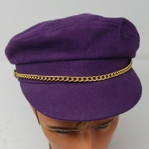 Greek Purple Wool Sailor Hat, Small